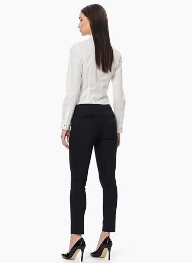 Network Slim Fit Dar Paça Kumaş Pantolon Siyah